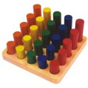 Escalier des cylindres colorés
