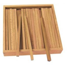 Montessori : Boîte des Prismes pour l'Escalier Marron