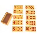 Correspondance chiffres et jetons en bois