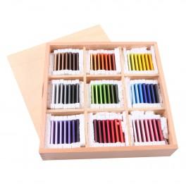 Montessori Premium : Troisième boite des tablettes de couleurs