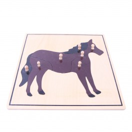 Montessori Premium : Puzzle du cheval