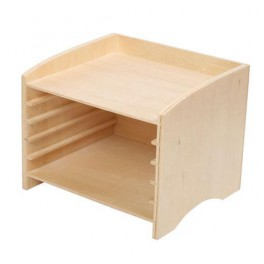 Montessori Premium : Cabinet de rangement des puzzles faunes et flores