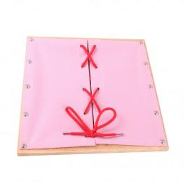 Montessori Premium : Cadre d'habillage avec lacet
