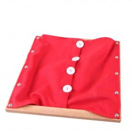 Montessori Premium : Cadre d'habillage avec fermeture à gros boutons
