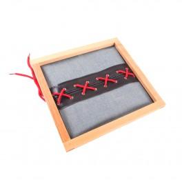 Montessori Premium : Cadre d'habillage à lacets de chaussure