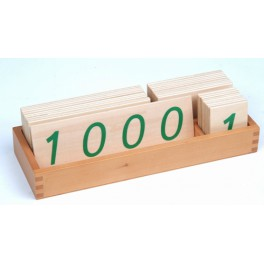 Montessori PREMIUM: Grandes cartes en bois des nombres (1-1000)