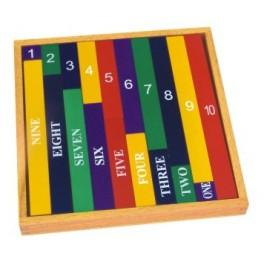 Montessori : Barres des nombres colorées