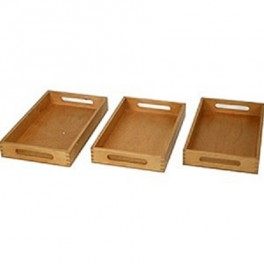 Montessori PREMIUM: 3 plateaux en bois