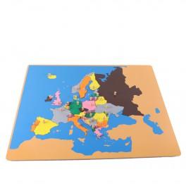 Montessori PREMIUM: Puzzle carte de l'Europe