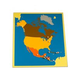 Montessori PREMIUM: Puzzle carte de l'Amérique du Nord