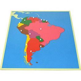 Montessori PREMIUM: Puzzle carte de l'Amérique du Sud
