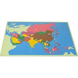 Montessori PREMIUM: Puzzle carte de l'Asie