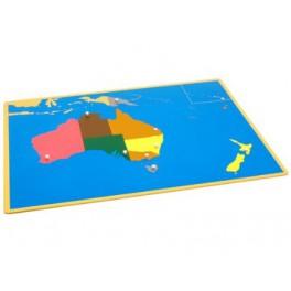 Montessori PREMIUM: Puzzle carte de l'Australie