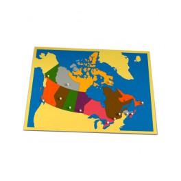Montessori PREMIUM: Puzzle carte du Canada