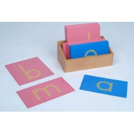 Montessori PREMIUM: Tablette de lettres minuscules rugueuse