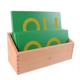 Montessori PREMIUM: Tablette double lettres minuscules rugueuses