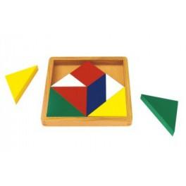 Montessori : Carré des fractions