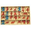 Montessori PREMIUM: Petit alphabet en bois mobile
