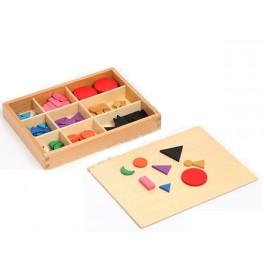 Montessori PREMIUM: Symboles grammaticaux basiques en bois avec boite