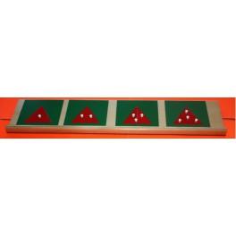 Montessori: triangles en métal découpés pour fractions