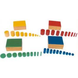 Montessori PREMIUM : Cylindres Colorés haut de gamme
